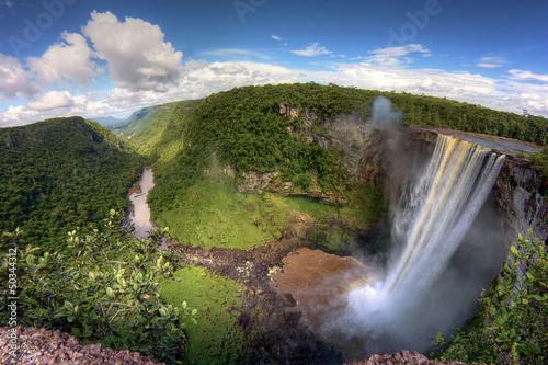 chute de Kaieteur Falls au Guyana amérique du sud amazonie Canvas Print