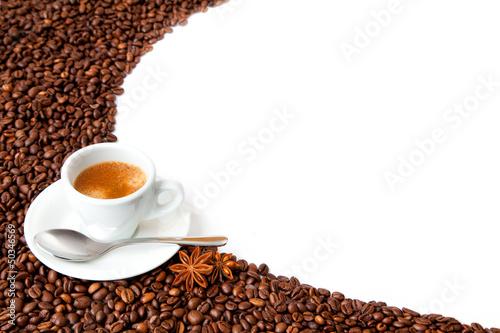 Foto op Plexiglas Koffiebonen sfondo caffè