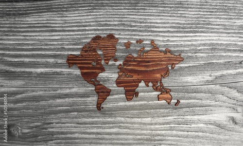 Classy international symbol in a stylish wooden background
