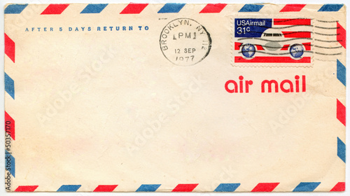 Photo Old airmail envelop