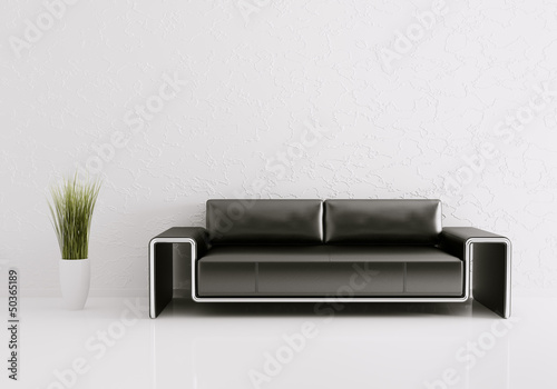 Fotografie, Obraz  Modern interior with sofa 3d render