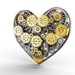heart made of gears