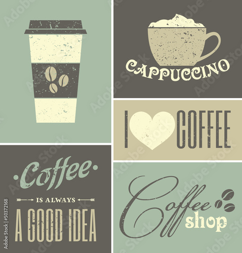 Vintage Coffee Collage - 50372168