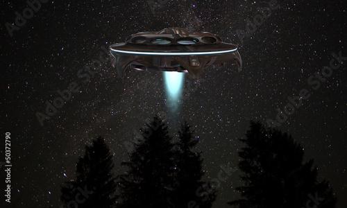 Fototapeta statek kosmiczny ufo