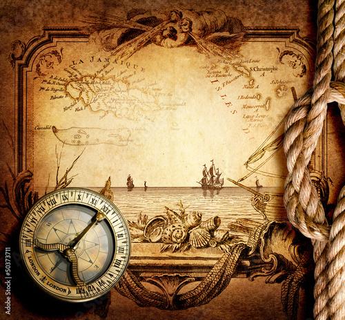 Canvas Prints Ship adventure stories background