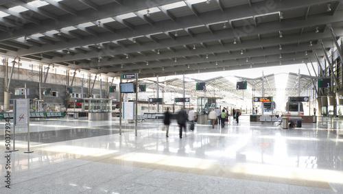 Fotomural  Railway station hall