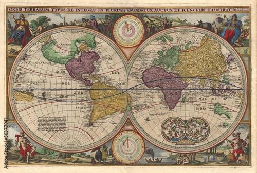 vintage-world-map
