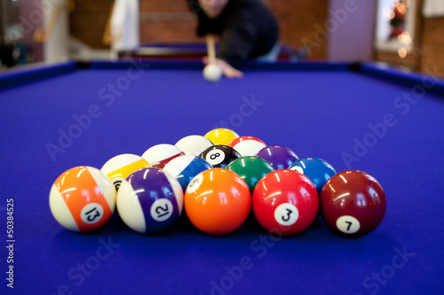 Fotografie, Obraz  Pool Hall Billiards