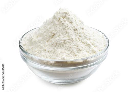Fotografia Flour in glass bowl