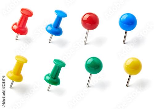 push pin thumbtack paper clip office business Fototapet