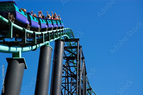 Fotografie, Obraz  Roller Coaster Hill Incline