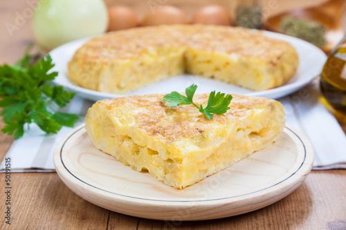 Fotografía  Spanish Omelette. By far the most popular Spanish tapa