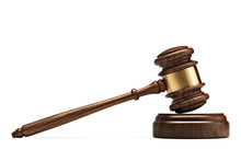 A Wooden Judge Gavel And Sound...
