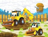 The cartoon digger - illustration for the children