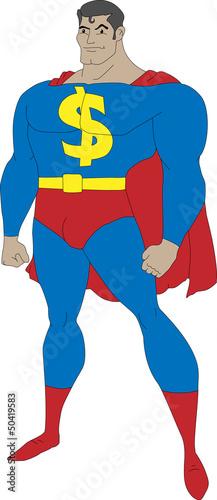 Autocollant pour porte Super heros Superhero