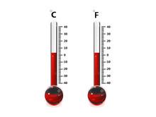 Thermometre Celsius Et Fahreneit Rouge