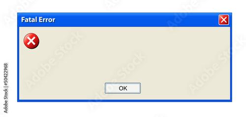 Error pop up window