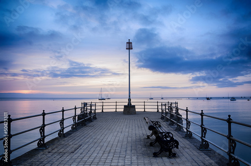 Foto auf AluDibond Pier Swanage Pier Sunrise