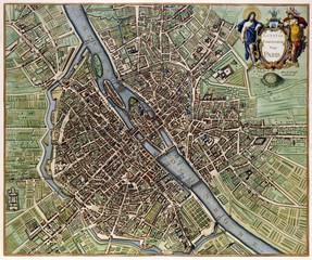 FototapetaParis vintage map