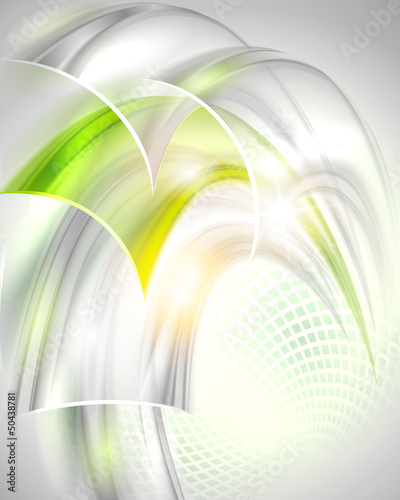 Naklejka dekoracyjna Abstract gray background with green element
