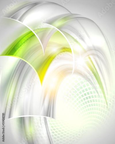 abstrakcjonistyczny-szary-tlo-z-zielonym-elementem