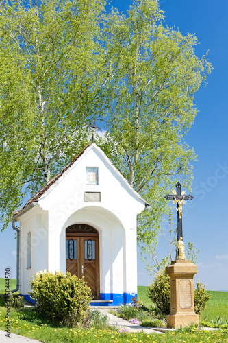 Tablou Canvas chapel with a cross, Vlcnov, Czech Republic