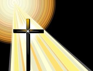 Panel Szklany Do kościoła Christian Cross