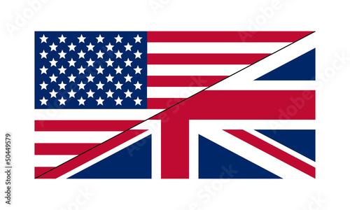 Drapeau Américano-Britannique Tapéta, Fotótapéta