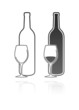 wineglass and bottle icon