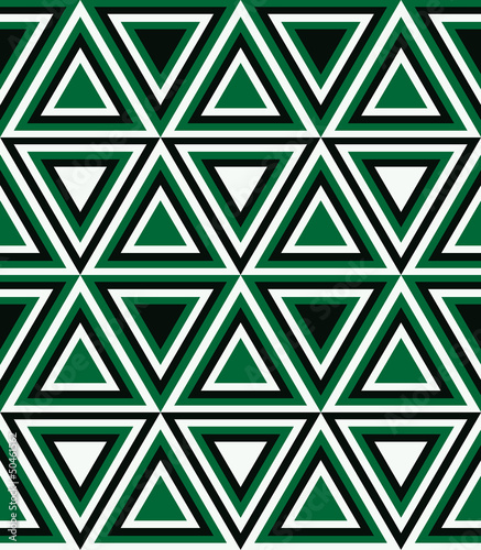 Poster ZigZag Fashion pattern with triangles