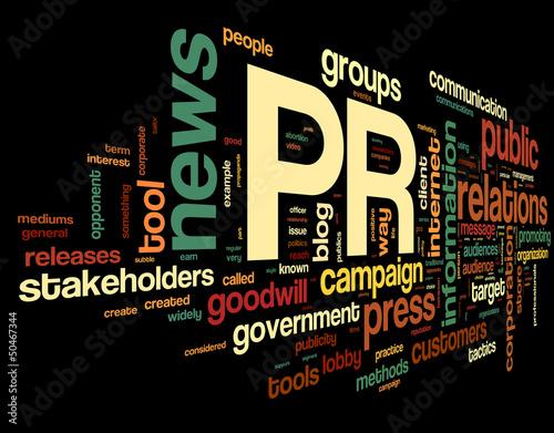 Fotografía  Public relations concept in tag cloud