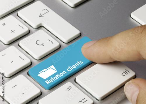 Fotografie, Tablou  Relation clients clavier doigt