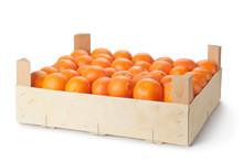 Retail Crate Of Ripe Tangerines