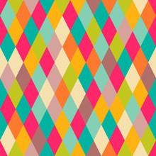 Abstract Geometric Rhombus Seamless Pattern
