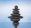 Zen stones balance in water concept