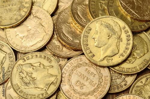 Fotografía  Gold french coin, Napoleon