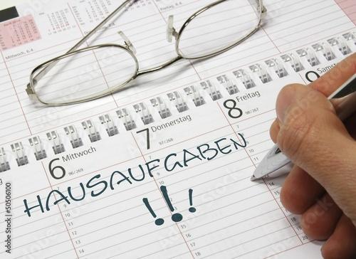Kalender Hausaufgaben – kaufen Sie dieses Foto und finden Sie ...