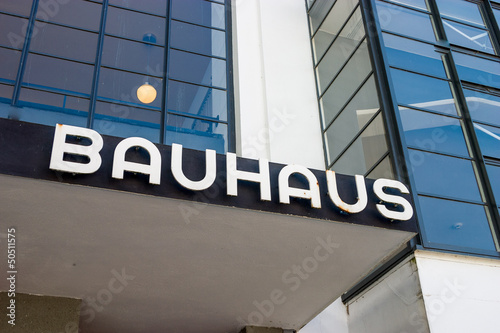 Foto  Bauhaus Dessau writing
