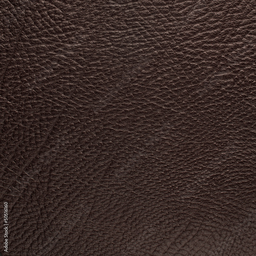 Deurstickers Leder Brown leather texture closeup