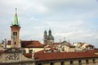 steeples of churches that rise above the houses of Vicenza