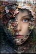 canvas print picture - Steinfrau