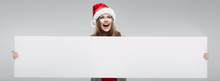 Christmas Santa Hat Isolated W...