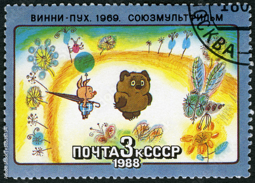 Photo  USSR - 1988: shows Winnie-the-Pooh, 1969
