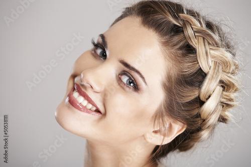 Obraz woman hair style - fototapety do salonu