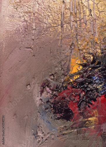 Nowoczesny obraz na płótnie malerei texturen pastos risse