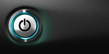 Computer Power Button, Computing Symbol.