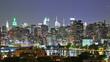 Manhattan at night, time lapse