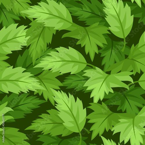bezszwowy-tlo-z-zielonymi-liscmi-ilustracji-wektorowych