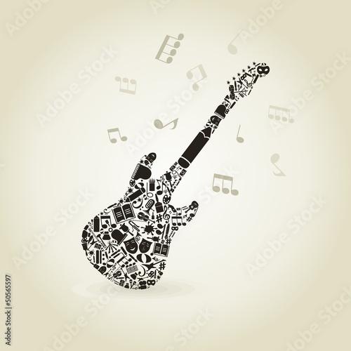 Art a guitar #50565597