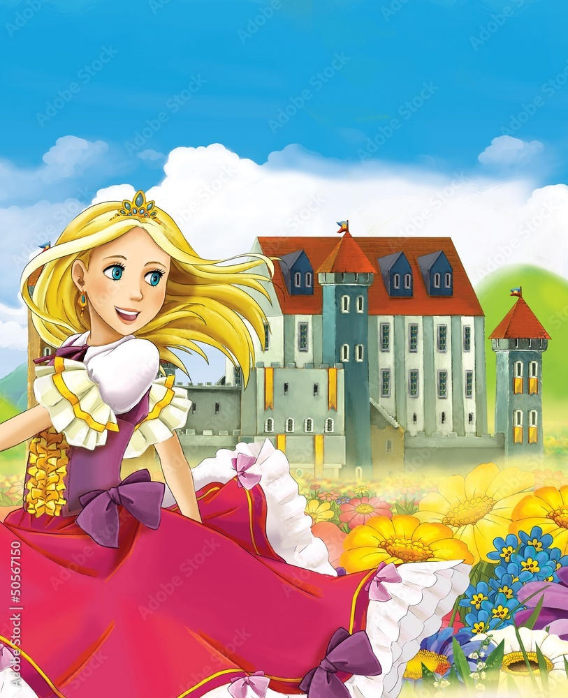 Foto-Lamellen (Lamellen ohne Schiene) - The fairy - Beautiful Manga Girl - illustration